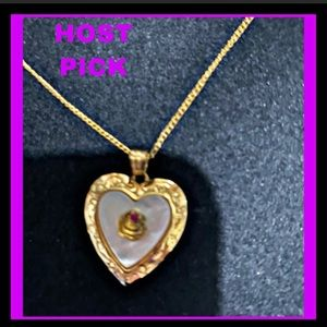 Danbury Mint DAUGHTER HEART PENDANT NECKLACE w BOX